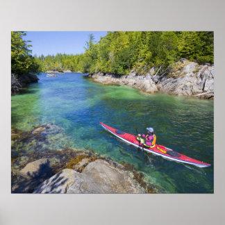 Le Canada, Colombie-Britannique, île de Vancouver. Affiche