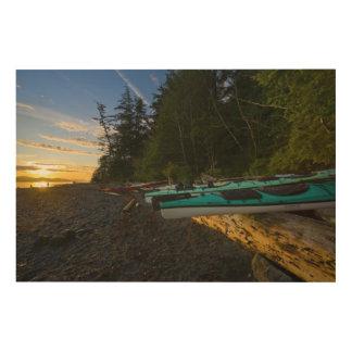 Le Canada, Colombie-Britannique, île de Vancouver, Canevas En Bois
