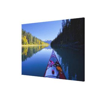 Le Canada, Colombie-Britannique, lacs Bowron Toile Tendue Sur Châssis