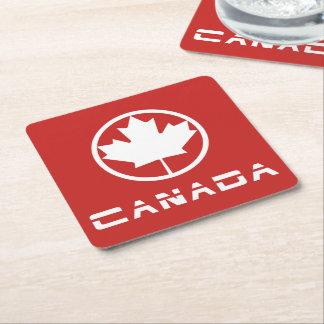 Le Canada Dessous-de-verre Carré En Papier