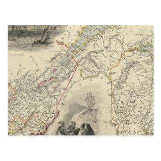Le Canada et le Nouveau Brunswick est Carte Postale