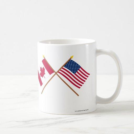 Le Canada et les drapeaux croisés par Etats-Unis Tasse