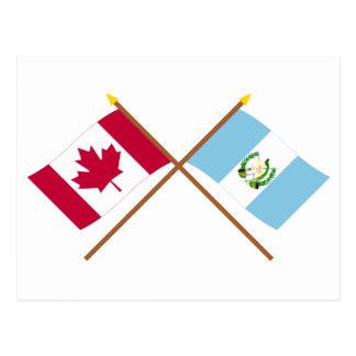 Le Canada et les drapeaux croisés par Guatemala Carte Postale