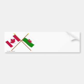 Le Canada et les drapeaux croisés par Pays de Autocollant Pour Voiture