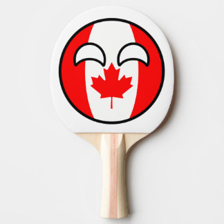 Le Canada Geeky tendant drôle Countryball Raquette De Ping Pong