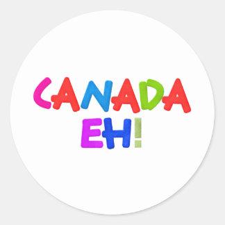 Le Canada hein Adhésif Rond