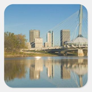 Le CANADA, Manitoba, Winnipeg : Esplanade Riel 2 Sticker Carré