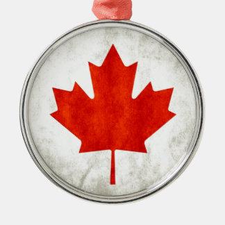 le Canada Ornement Rond Argenté