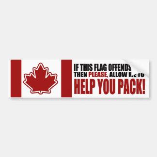 Le CANADA si ce drapeau vous offense Autocollant De Voiture