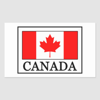 Le Canada Sticker Rectangulaire