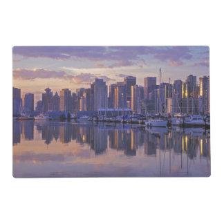 Le Canada, Vancouver, Colombie-Britannique. Set De Table Stratifié