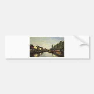 Le canal de Bruxelles, Louvain par Eugene Boudin Autocollant Pour Voiture