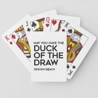 Le canard de l'aspiration cartes à jouer