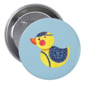 Le canard mignon badge rond 7,6 cm