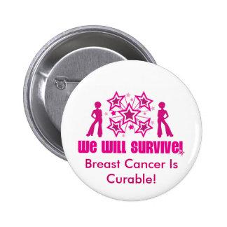 Le cancer du sein est durcissable pin's avec agrafe