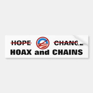 Le canular et les chaînes d'Obama Autocollant Pour Voiture