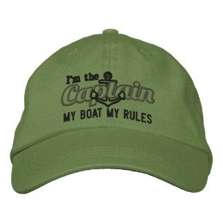 Le capitaine dit mon bateau mes règles casquette brodée