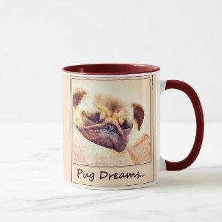 Le carlin rêve la tasse