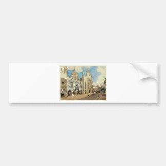 Le carré de cathédrale dans Como par Rudolf von Autocollant De Voiture