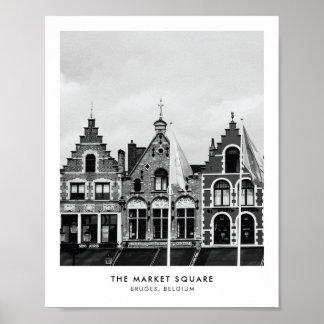 Le carré du marché, copie de photographie de poster