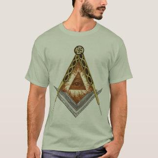 Le carré et font le tour de tout l'oeil voyant t-shirt