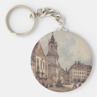 Le carré principal à Bratislava par Rudolf von Alt Porte-clés