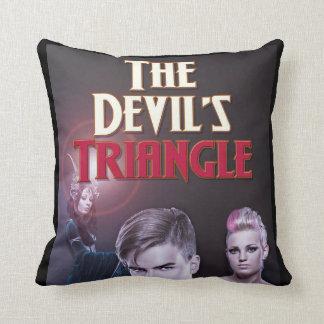 Le carreau de concepteur de la triangle du diable oreiller