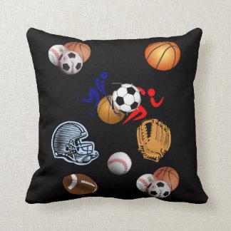 le carreau dénoyautent le football de sports oreiller