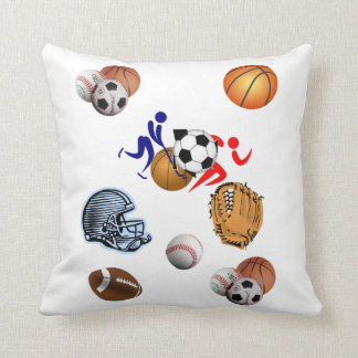 le carreau dénoyautent le football de sports oreillers