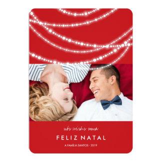 Le cartão de foto du DA de moda d'à d'étincelles Carton D'invitation 12,7 Cm X 17,78 Cm
