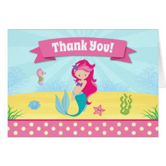 Le carte de remerciements de sirène a plié la