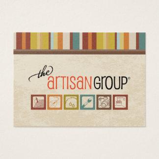 Le carte de visite de groupe d'artisan
