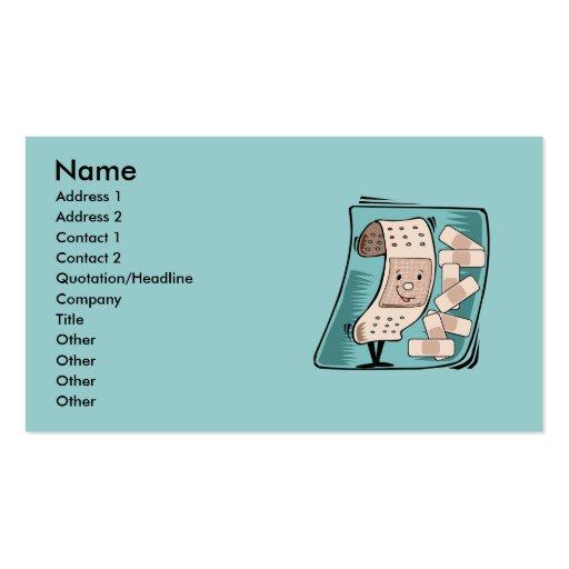 Le carte de visite de l'infirmière