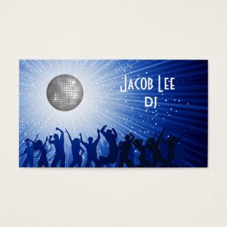 Le carte de visite du DJ de personnes de partie