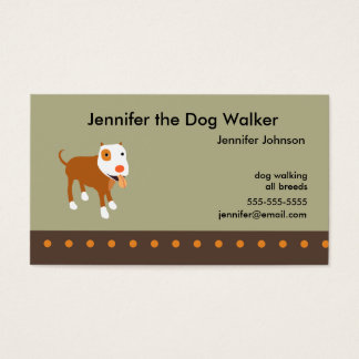 Le carte de visite du marcheur de chien