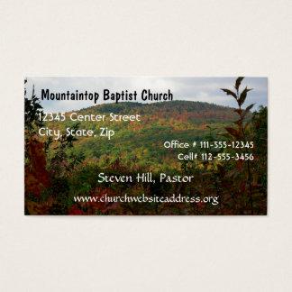 Le carte de visite du pasteur