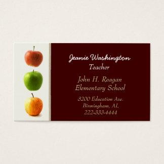 Le carte de visite du professeur élégant de pommes