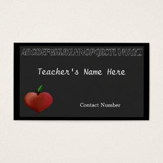 Le carte de visite du professeur noir de conseil