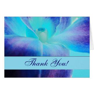 Le carte pour notes de Merci d'orchidée bleue