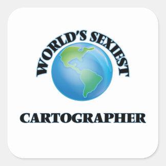 Le cartographe le plus sexy du monde sticker carré
