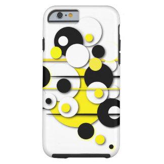 """Le cas """"jaune de téléphone entoure """" coque tough iPhone 6"""
