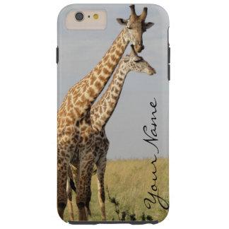 Le cas plus de l'iPhone 6 de famille de girafe Coque iPhone 6 Plus Tough