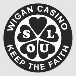 Le casino de Wigan gardent la foi Sticker Rond