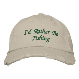 Le casquette brodé du pêcheur
