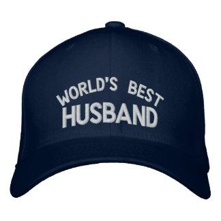 Le casquette brodé le meilleur par mari du monde casquette brodée