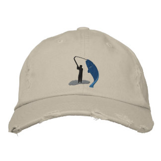 Le casquette brodé par crochet du pêcheur de casquette brodée