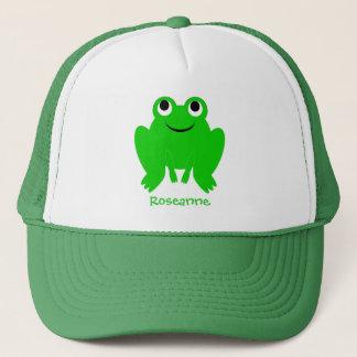 Le casquette de grenouille ajoutent juste le nom