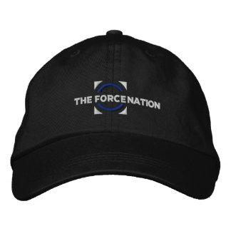 Le casquette de noir de nation de force casquette brodée