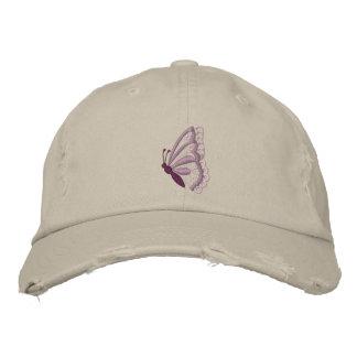 Le casquette des femmes brodées par papillon casquette brodée