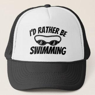 Le casquette drôle de camionneur pour le nageur et